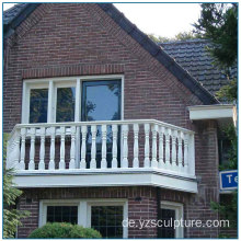 Moderne Outdoor Marmor Balkon Balustrade